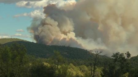 프랑스 지중해 연안 대규모 산불…강풍 속 휴양지 근처로 확산