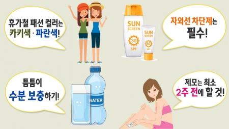 올여름 휴가엔 선글라스·카키색 옷?…휴가철 피부 건강법
