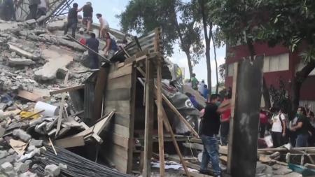멕시코 또 강진...한인 포함 2백여 명 사망