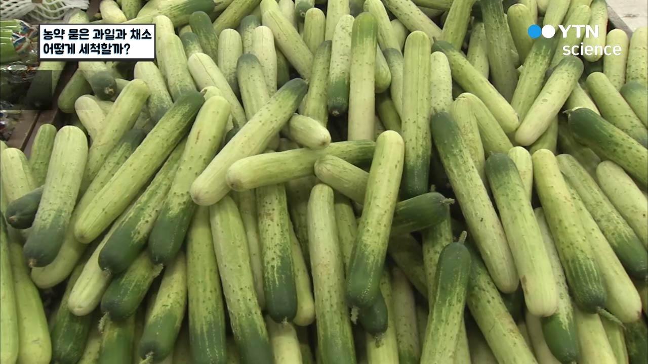 농약 묻은 과일과 채소 어떻게 세척할까?