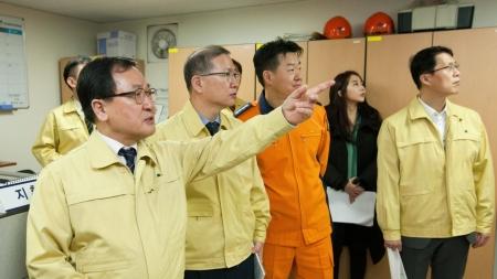 유영민 장관, 원자력의학원 안전관리 점검 나서
