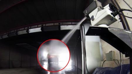 터널 화재, CCTV로 감지하고 원격 물대포로 진화한다