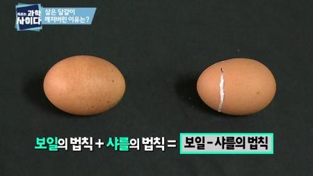 [톡 쏘는 과학 사이다] 달걀이 깨진 이유? 보일, 샤를에게 물어봐